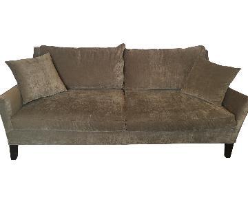 American Signature Olive Microfiber Sofa