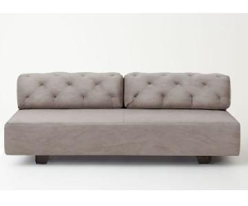 West Elm Tillary Tufted Sofa in Dove Grey
