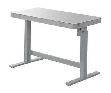 Wildon Home Glass Top Electric Adjustable Height Desk