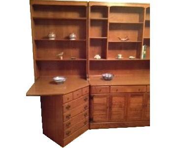 Ethan Allen Corner Desk w/ Bookcase