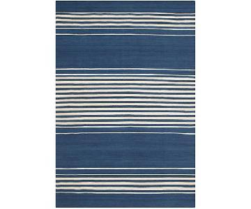 Ralph Lauren Bluff Point Stripe Blue Area Rug