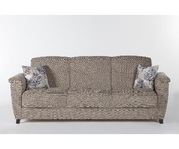 Istikbal Aspen Forest Brown Convertible Sofa
