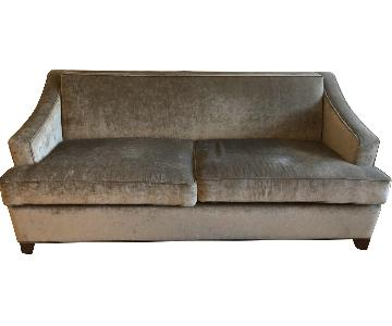 Carlyle Custom Grey Velvet Sleeper Sofa