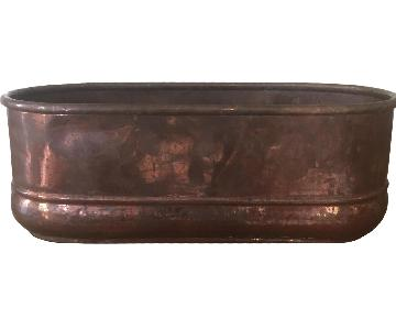 Antique Copper Planters