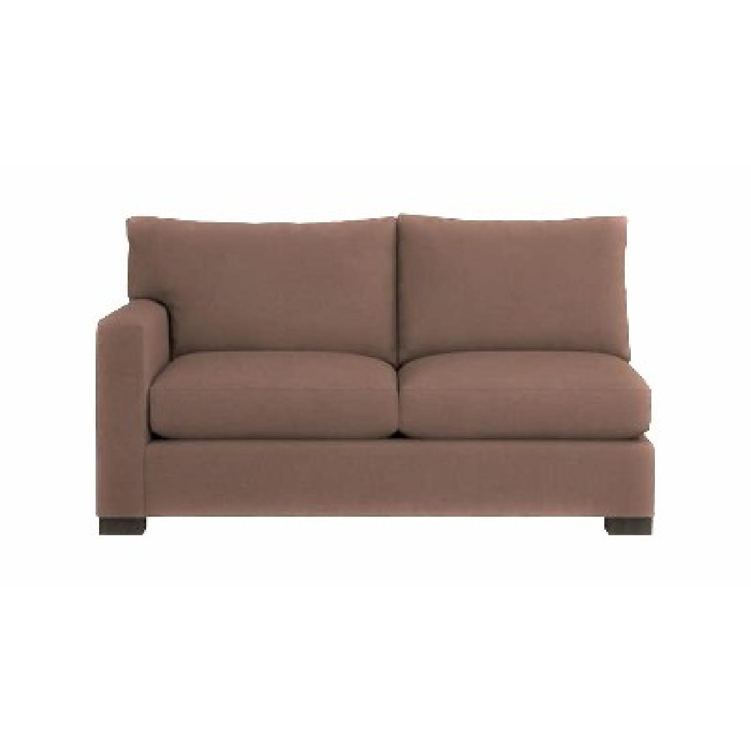 Crate U0026 Barrel Axis Left Arm Apartment Sofa ...