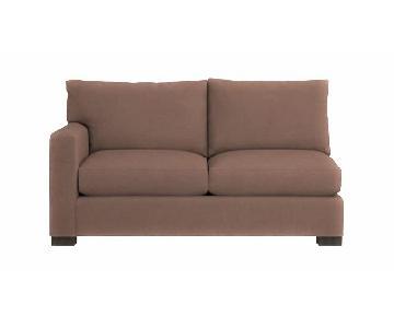 Crate & Barrel Axis Left Arm Apartment Sofa