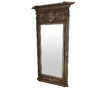 Ethan Allen Antique Gold Floor Mirror