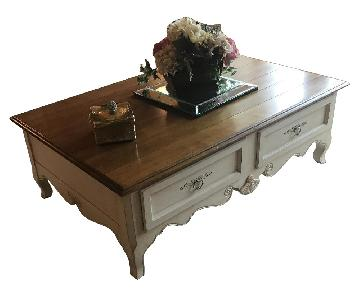 Ethan Allen Lasalle Coffee Table w/ 2 Drawers