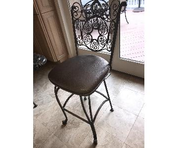 Frontgate Wrought Iron Counter Stools
