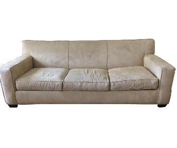 Crate & Barrel 3 Seater Sofa + Armchairs