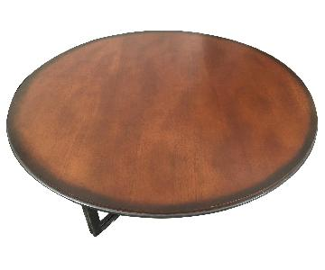 Round Deep Brown Coffee Table