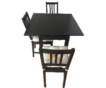 Ikea Extendable Dining Table w/ 3 Chairs
