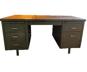 Steelcase Vintage Metal Desk