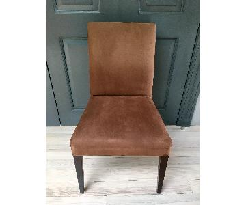 Crate & Barrel Chocolate Upholstered Dining Chair