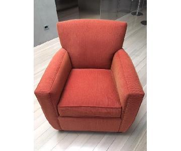 Crate & Barrel Custom Armchair