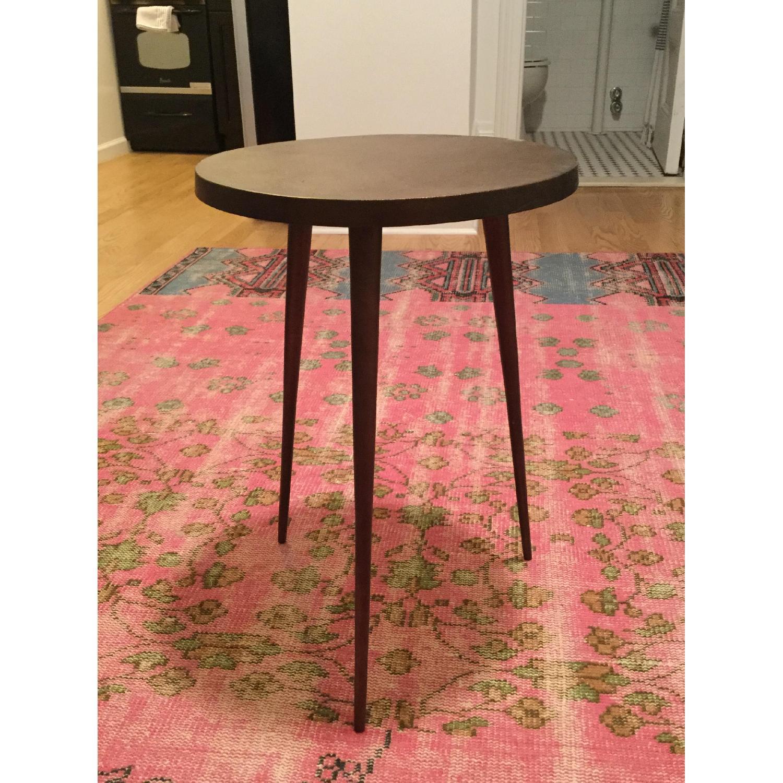 West Elm Metallic Copper Cast Tripod Side Table AptDeco - West elm tripod side table