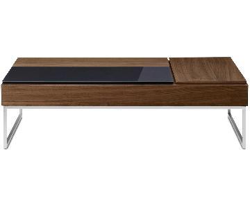 BoConcept Chiva Hidden Storage Coffee Table in Walnut/Glass