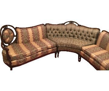 Antique 3 Piece Victorian Sectional Sofa
