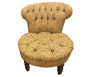 ABC Carpet and Home Gold Upholstered Accent Chairs