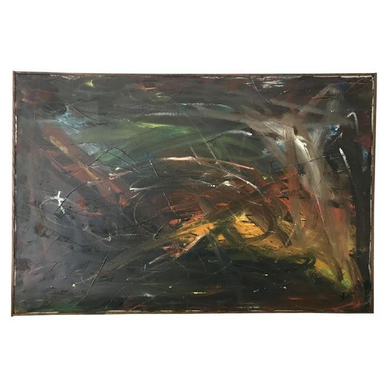 1965 Mid Century Abstract Painting