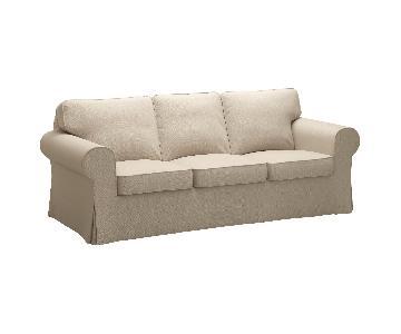 Ikea Ektorp Beige 3 Seater Sofa