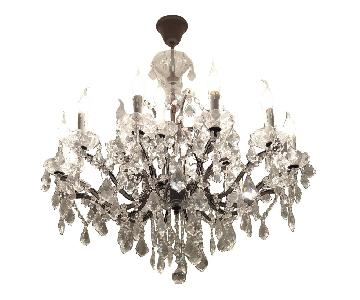 Restoration Hardware 19th C. Iron & Crystal Chandelier