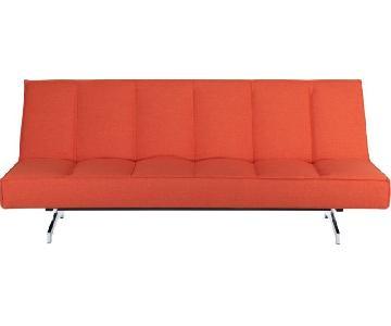 CB2 Flex Orange Sleeper Sofa