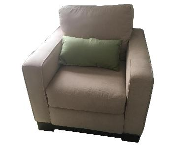 Pottery Barn Tan Armchair
