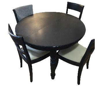 Black Dining Table w/ 4 Chairs