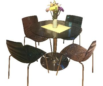 Calligaris Dining Table w/ 4 Chairs