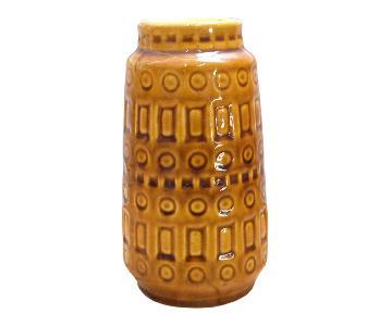 1960 West German Scheurich Keramik Inka Mustard Ceramic Vase