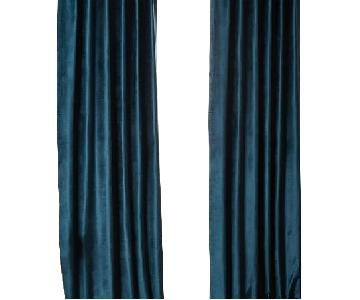 West Elm Regal Blue Curtains