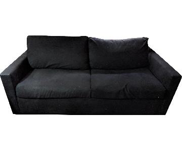 Bob's Black Microsuede Sleeper Sofa