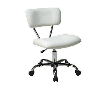 Avenue Six Vista Task Office Chair in White Vinyl