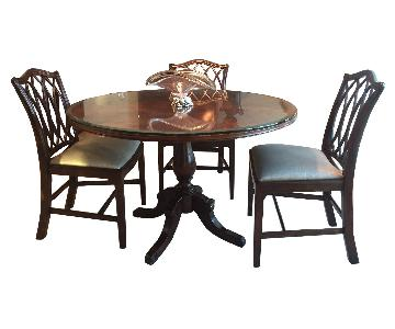 Theodore Alexander Jacoby Dining Table w/ 4 Trellis Chairs.