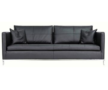 sohoConcept Istanbul Black Leather Sofa