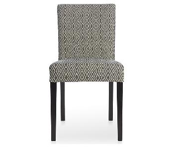 Crate & Barrel Lowe Diamond Upholstered Dining Chair