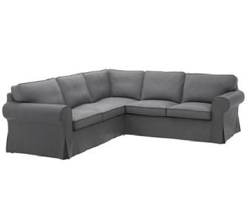 Ikea Ektorp 2-Piece Sectional Sofa in Grey