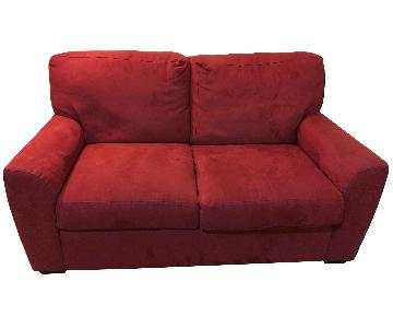 Red American Upholstery Loveseat