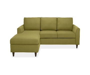 Room & Board Teal Sleeper Sectional Sofa