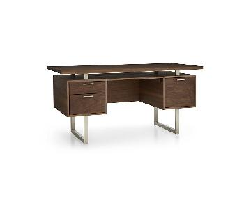Crate & Barrel Clybourn Walnut Executive Desk