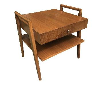 Mid Century Modern Walnut Side Table/Night Stand
