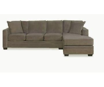 Boston Interiors Microfiber Custom Sectional Sofa w/ Chaise