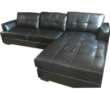 Wayfair Black Faux Leather Sectional Sofa