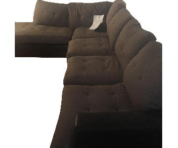 Brown 3-Piece Sectional Sofa