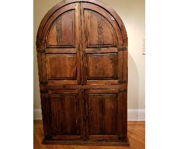 Arhaus Vintage Rustic Armoire/Entertainment Cabinet