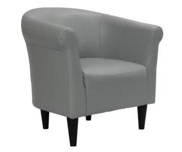 Light Grey Barrel Chair