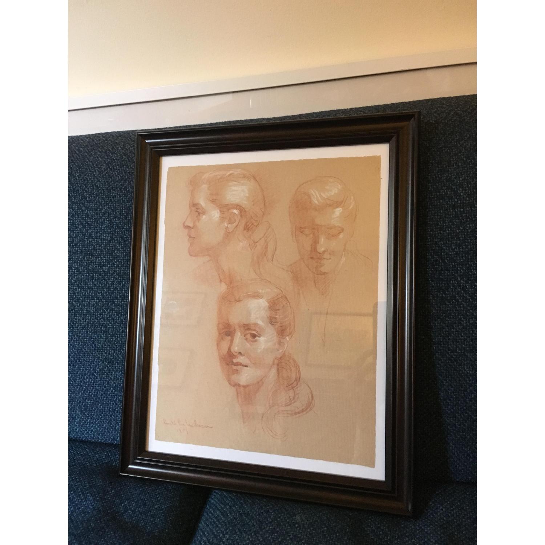 Framed Vintage 1951 Portraits - image-3