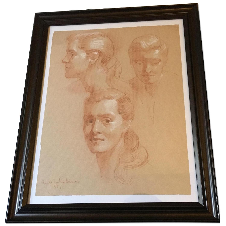 Framed Vintage 1951 Portraits - image-0