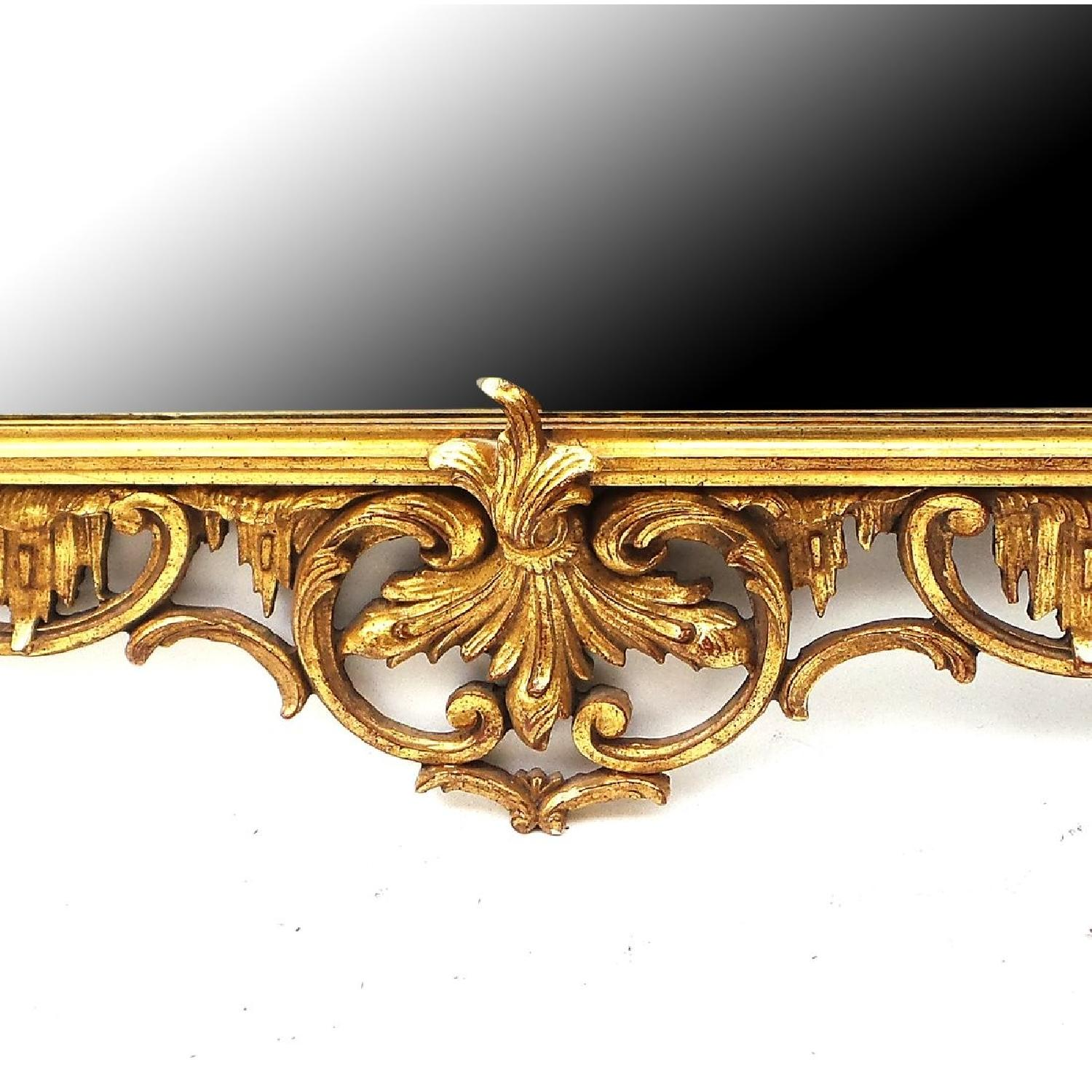 Hand Carved Gilt Wood Mirror - image-1